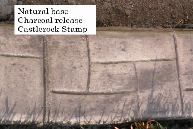 stamped curb