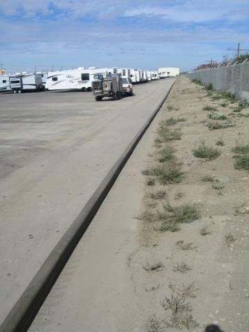 5X6 pinned on asphalt a 600 foot long line