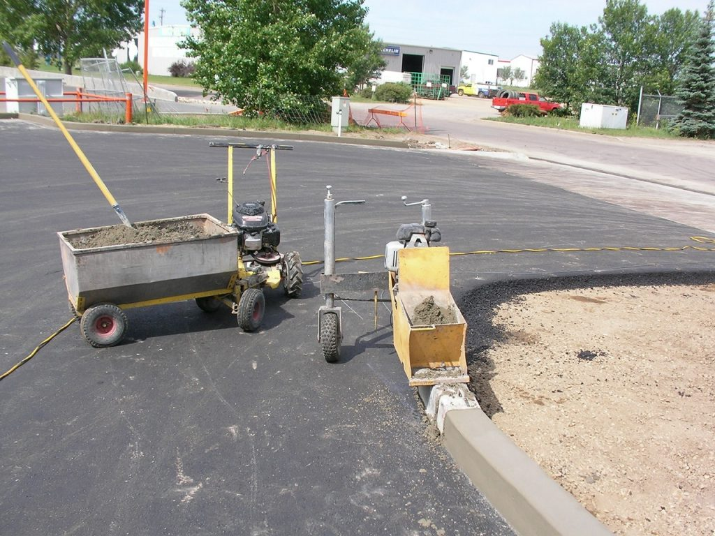 6X6  curb installation on curve