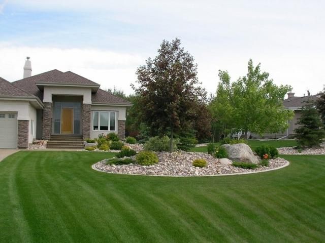 Big bold shapes in a big yard