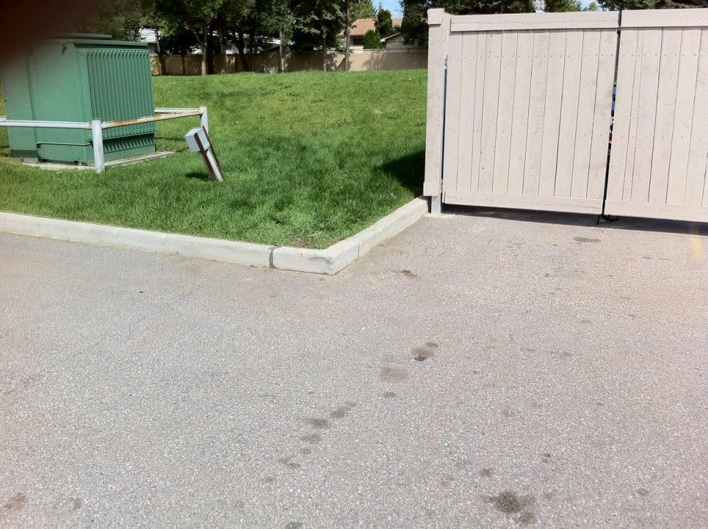We aligned that corner