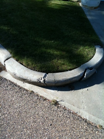 repairs needed on curb