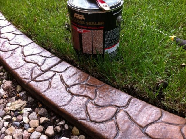 concrete sealant has dried now