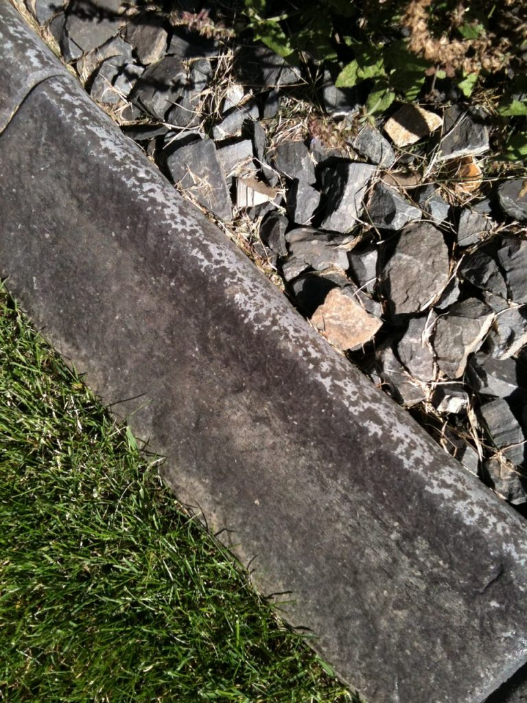 this badly neglected sealant may need professional help to get it dark again