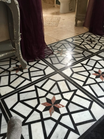 marble and travertine floor